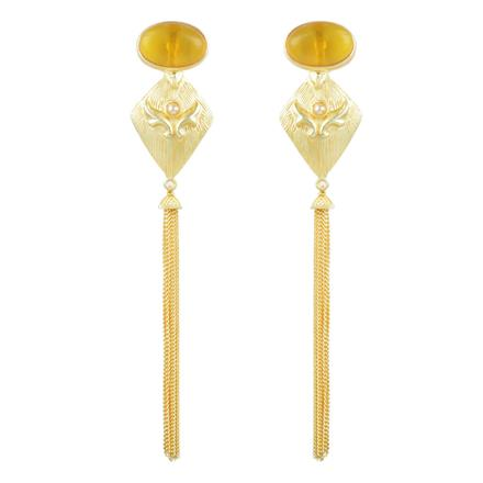 8078 Indo Western Long Earring with gold plating