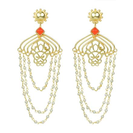 8081 Indo Western Classic Earring with gold plating