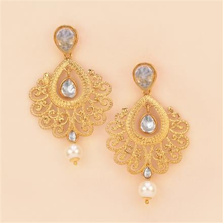 8089 Indo Western Classic Earring with mehndi plating