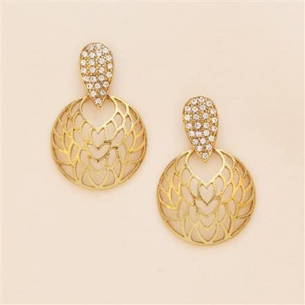 8094 Indo Western Short Earring with mehndi plating