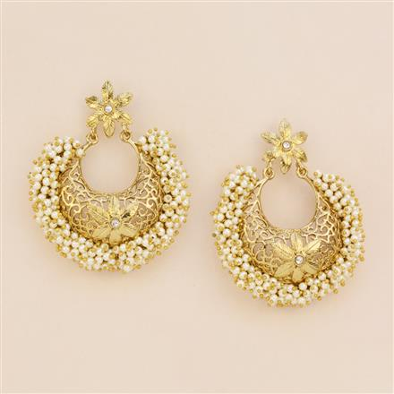 8098 Indo Western Chand Earring with mehndi plating