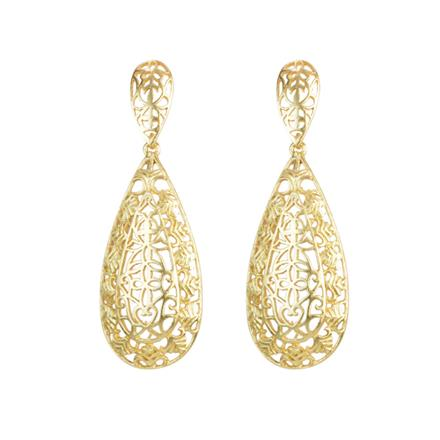 8102 Indo Western Long Earring with gold plating