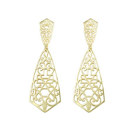 8103 Indo Western Long Earring with gold plating