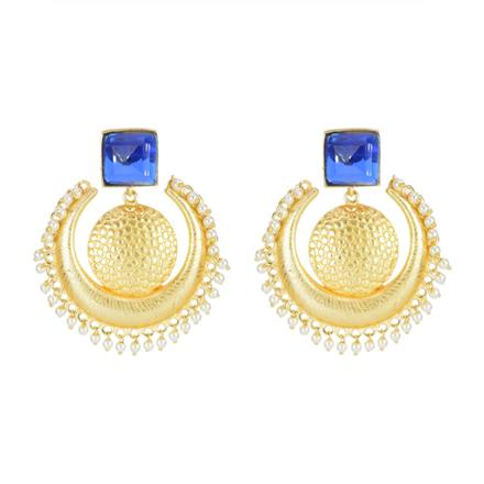 8106 Indo Western Chand Earring with gold plating