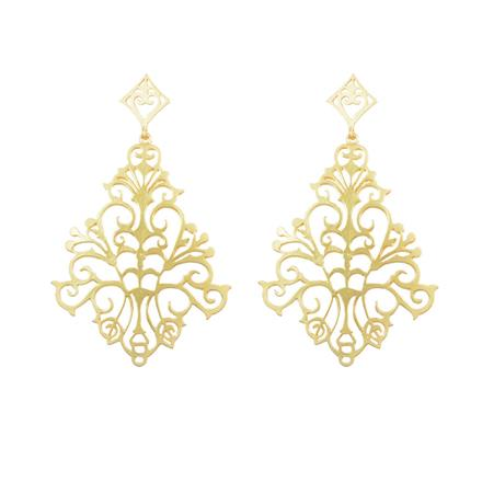 8107 Indo Western Long Earring with gold plating