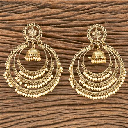 8114 Indo Western Chand Earring with mehndi plating