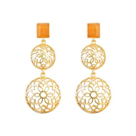 8123 Indo Western Classic Earring with gold plating