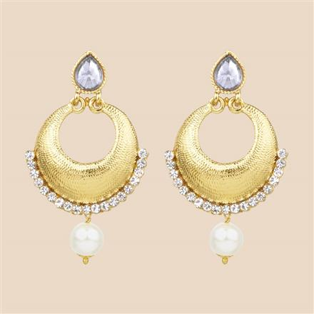 8126 Indo Western Chand Earring with mehndi plating