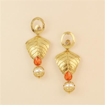 8129 Indo Western Classic Earring with mehndi plating