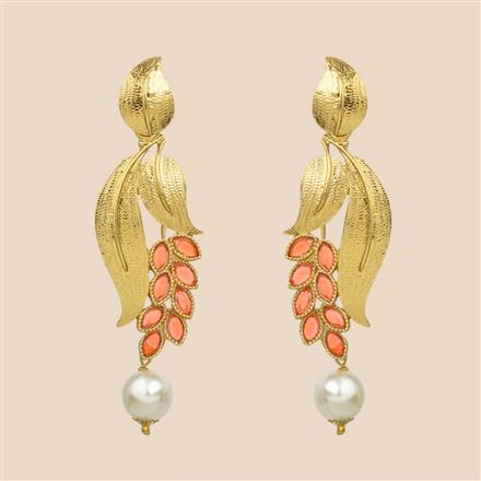 8132 Indo Western Trendy Earring with mehndi plating