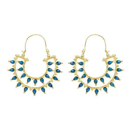 8139 Indo Western Chand Earring with gold plating