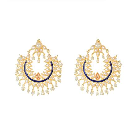 8142 Indo Western Chand Earring with gold plating