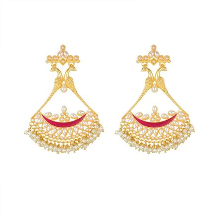 8143 Indo Western Long Earring with gold plating