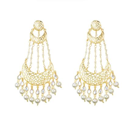 8148 Indo Western Chand Earring with gold plating