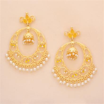 8149 Indo Western Chand Earring with gold plating