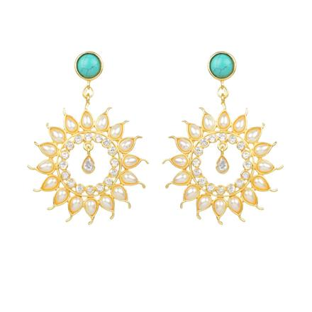 8157 Indo Western Classic Earring with gold plating