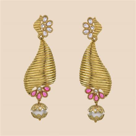 8162 Indo Western Trendy Earring with mehndi plating