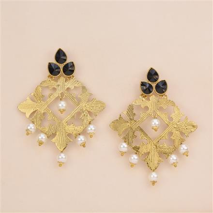 8180 Indo Western Trendy Earring with mehndi plating