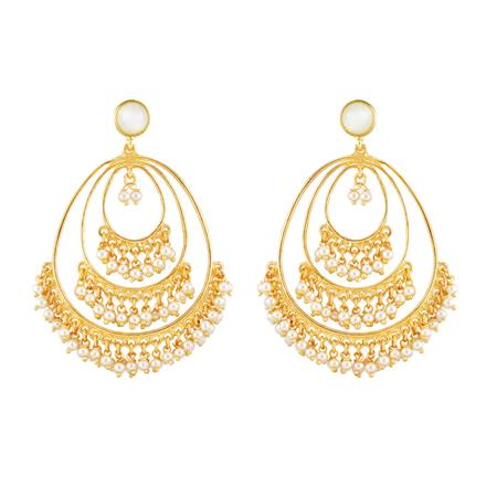 8185 Indo Western Classic Earring with gold plating