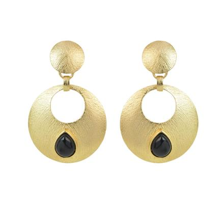 8189 Indo Western Chand Earring with gold plating