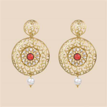 8191 Indo Western Classic Earring with mehndi plating