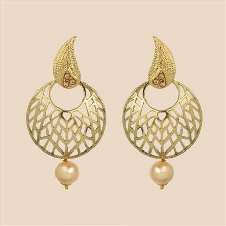 8199 Indo Western Chand Earring with mehndi plating