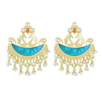 8203 Indo Western Chand Earring with gold plating