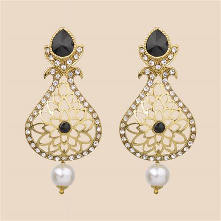 8206 Indo Western Classic Earring with mehndi plating