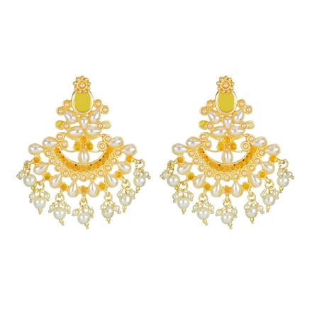 8207 Indo Western Classic Earring with gold plating