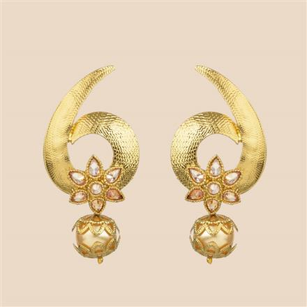 8209 Indo Western Classic Earring with mehndi plating