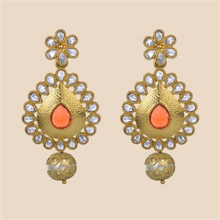 8210 Indo Western Classic Earring with mehndi plating