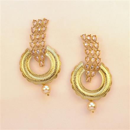 8211 Indo Western Classic Earring with mehndi plating