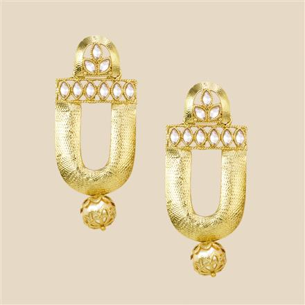 8213 Indo Western Classic Earring with mehndi plating