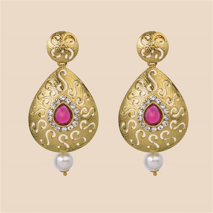 8217 Indo Western Classic Earring with mehndi plating