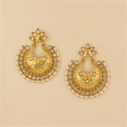 8232 Indo Western Chand Earring with mehndi plating