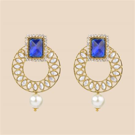 8233 Indo Western Classic Earring with mehndi plating
