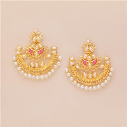 8236 Indo Western Chand Earring with gold plating