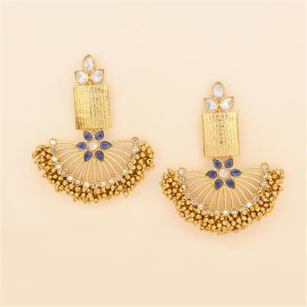 8238 Indo Western Chand Earring with mehndi plating