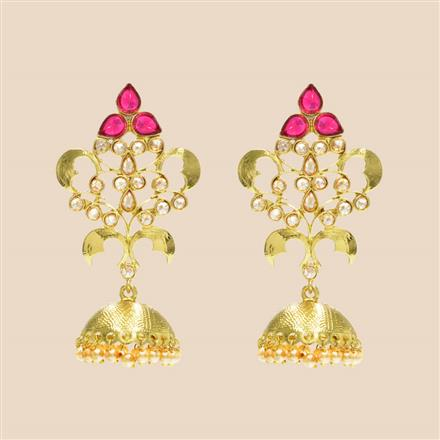 8256 Indo Western Classic Earring with mehndi plating