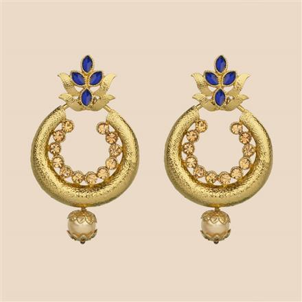 8261 Indo Western Chand Earring with mehndi plating