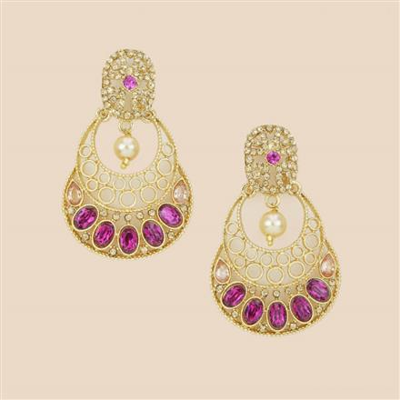 8277 Indo Western Classic Earring with mehndi plating