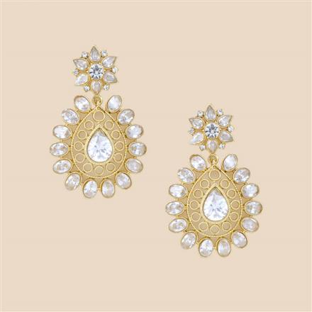 8279 Indo Western Classic Earring with mehndi plating