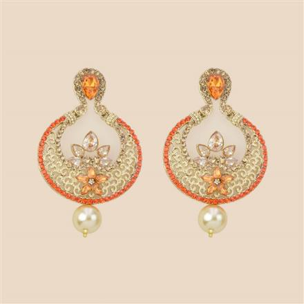 8280 Indo Western Chand Earring with mehndi plating