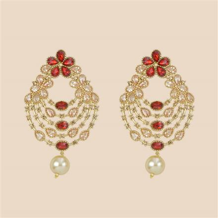 8282 Indo Western Chand Earring with mehndi plating