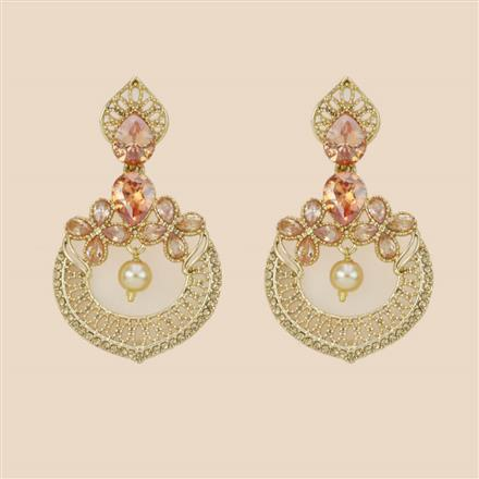 8283 Indo Western Classic Earring with mehndi plating