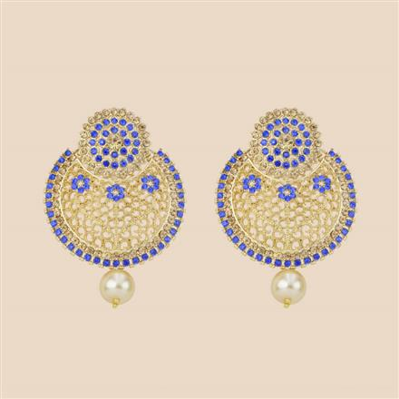 8284 Indo Western Chand Earring with mehndi plating