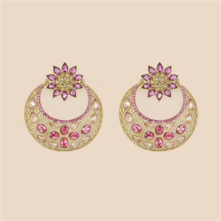8285 Indo Western Chand Earring with mehndi plating