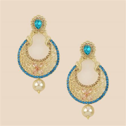 8286 Indo Western Chand Earring with mehndi plating