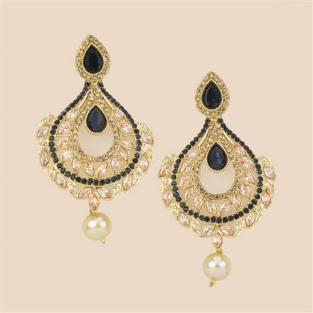 8288 Indo Western Long Earring with mehndi plating