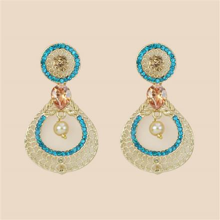 8289 Indo Western Classic Earring with mehndi plating